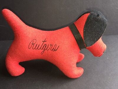 Vintage PERSONALITY PETS, COLLEGIATE MFG. CO. Rutgers Dog