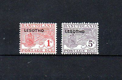 2 mint postage due stamps from lesotho