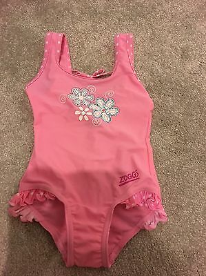Pink Girls Zoggs Swimsuit 1-2years