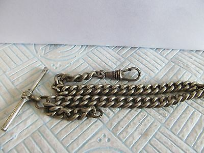 vintage silver base metal Albert chain in good condition