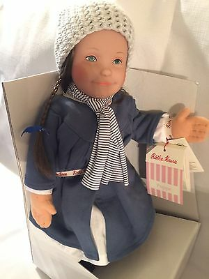 "Kathe Kruse Lolle Elke Doll with Bangs!!  Brand New 21"" Doll"