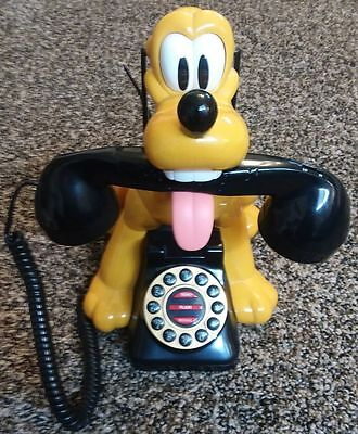 Collectable Vintage Disney Pluto Barking Telephone Animated Talking Gwc. Nice!