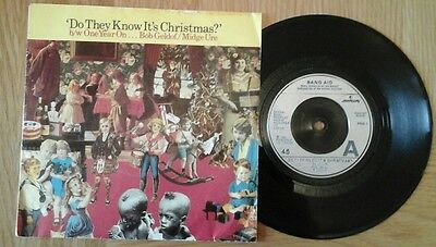 """Band Aid - Do They Know It's Christmas/one Year On 7"""" 45Rpm Vinyl Single 1984 Vg"""