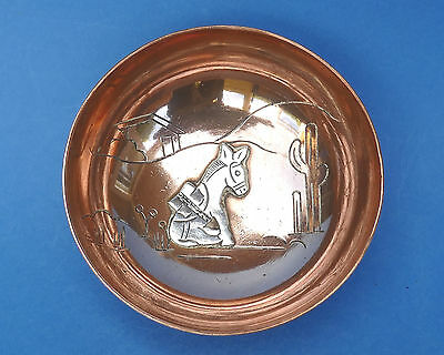 VICTORIA TAXCO MEXICO - Copper & White Metal Bowl - CONY 267 - Cactus Donkey