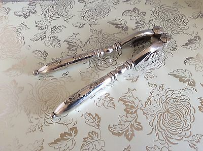 Antique Silver Plated Chased  Nut Crackers