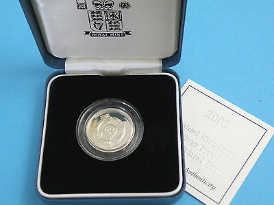 2001 Royal Mint - STERLING SILVER PROOF ONE POUND £1 COIN - Northern Ireland