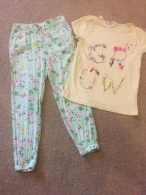 Pretty Girls Summer Outfit From H&M Age 4-5 Years 5-6
