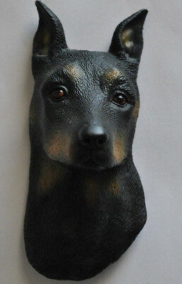 NOS Realistic Doberman Pinscher Dog Bust Figural Rubber Magnet By Swibco
