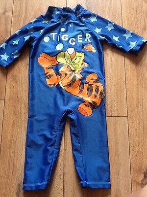 Boys Tigger UV sunsuit age 18-24 mths