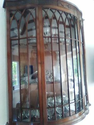 mahogany wall display cabinet original not reproduction