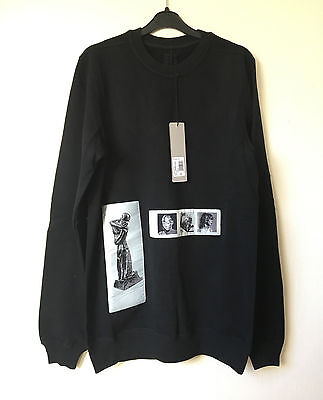 100% Authentic Rick Owens DRKSHDW patch Oversized sweatshirt sweater - S