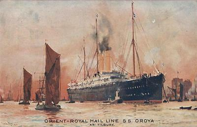 Ss Oroya At Tilbury Orient Royal Mail Line