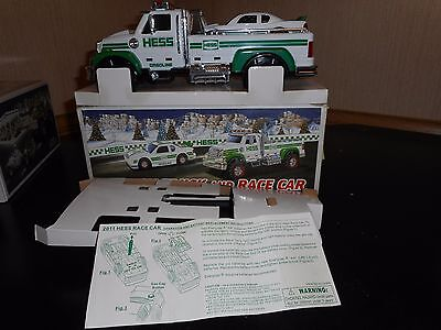 2011 Hess Truck  And Race Car In Clean Pre-Owned Condition W/ Box Issues