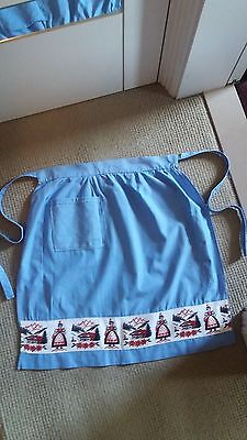 Vintage Ladies Half Apron -  Upcycled in the 1950's !