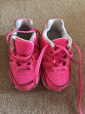 Baby Girls Bright Pink Trainers Size 5 Infants From Nike