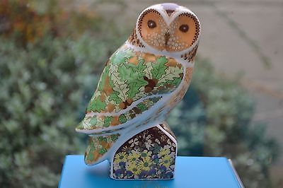 """Royal Crown Derby Paperweight """"WOODLAND OWL""""  NEW   1st Quality & Original Box"""