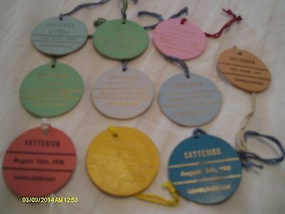 10 X Catterick Race Day Badges 1962 + 71