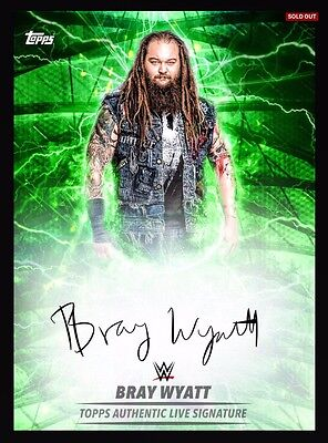 Topps WWE Slam Live Signature Green Bray Wyatt *Digital*