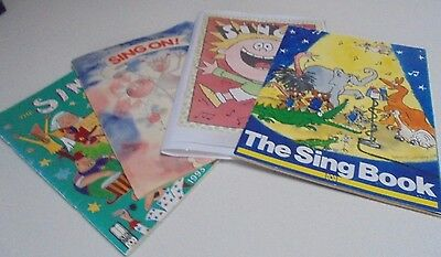 Assorted 4 of ABC MUSIC BOOKS Retro School Music Books,Sing, Sing On,The Sing Bk