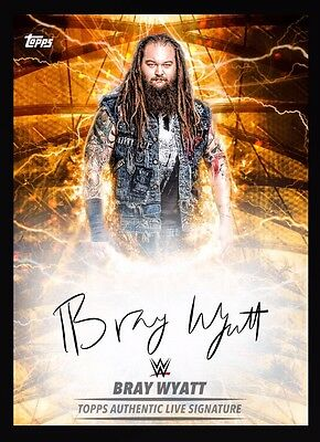 Topps WWE Slam Live Signature Orange Bray Wyatt *Digital*