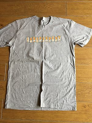 Independent Fabrication Bicycle Casual Tee Shirt Grey  Large