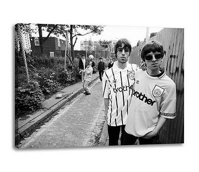 """OASIS MANCHESTER CITY CANVAS Noel & Liam Gallagher Photo Poster """"30x""""20 CANVAS"""