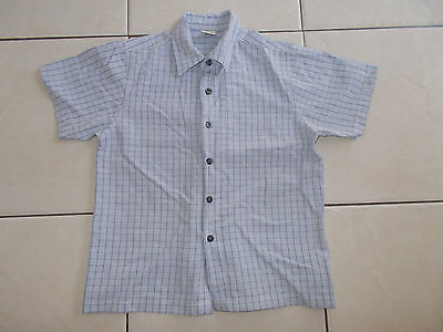 Boys Next Short Sleeved Checked Shirt Age 8