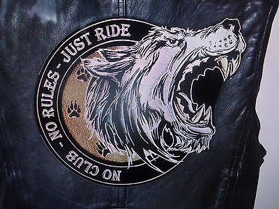 Back Patch No Club No Rules Just Ride Iron On Biker Harley Davidson Norton Honda