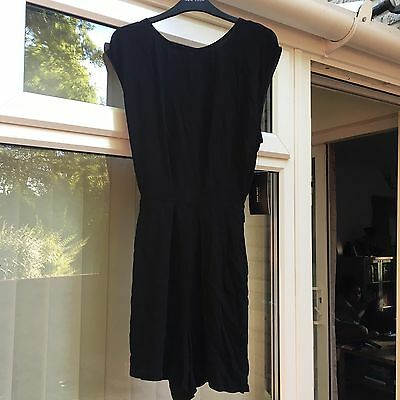 Zara lovely black playsuit Size L. new with tags