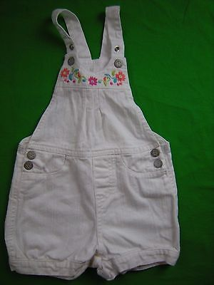 Toddler Girl 2T White Denim romper outfit floral embroidery THE CHILDREN'S PLACE
