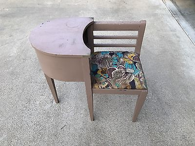 Vintage Telephone Table Seat Gossip Chair Phone Bench