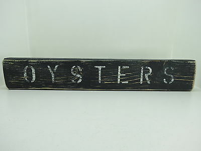 21 Inch Wood Hand Painted Oysters Sign Nautical Maritime Seafood (#s670)