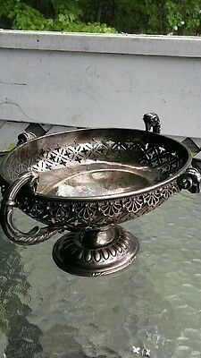 Antique Redfield & Rice NY Silverplate  Basket Centerpiece