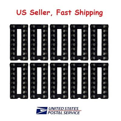 12 pc 16 pin DIP IC Sockets Adaptor Solder Type Socket - USA SELLER