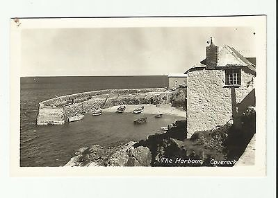 The Harbour, Coverack. Real Photo postcard. nr.Falmouth & The Lizard, Cornwall.