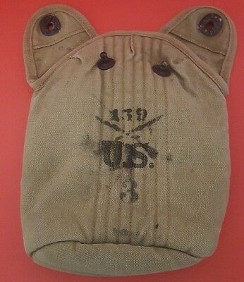 Original WW1 US Army M1910 Canteen Cover CALIN Dated 1917 infantry