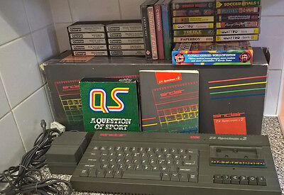 Working Sinclair ZX Spectrum 128K +2 Boxed with 25+ Games
