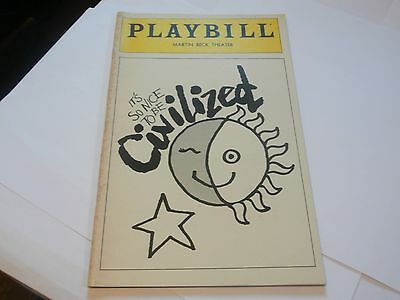 Playbill Program It's So Nice To Be Civilized M Beck Theatre 1980 Mabel King