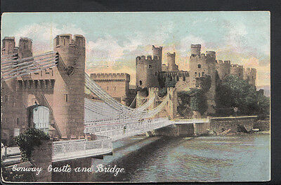 Wales Postcard - Conway Castle and Bridge   RS3240
