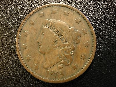 1834 liberty head large cent, large 8, small stars, medium letters