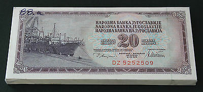 YUGOSLAVIA - LOT Of 100 Banknotes Notes - 20 DINARA 1978 - P 88a P88a (UNC)