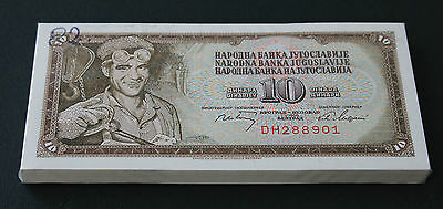 YUGOSLAVIA - LOT Of 100 Banknotes Notes - 100 DINARA 1968 - P 82 P82 (UNC)