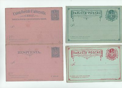 Chili  CHILE 3 STATIONERY Ganzsache entier unused  tarjeta Reponse Cover