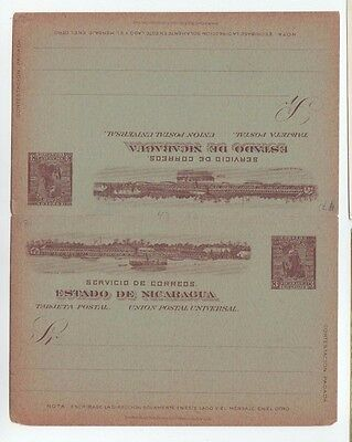 NICARAGUA STATIONERY Ganzsache entier unused  tarjeta double Reponse Cover