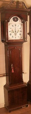 "Antique Oak  Automation Ship "" Prescot "" Longcase / Grandfather Clock"