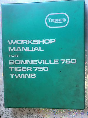 Genuine Original Triumph T140 Workshop Manual