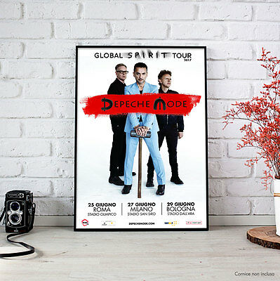 Depeche Mode - FineArt Poster Giugno 2017 Roma Milano Bologna GLOBAL SPIRIT TOUR