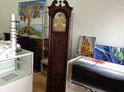 Grandfather Clock Wooden Cabinet Case Wood-Glass Door Moon Phase