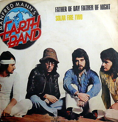 """Manfred Mann's Earth Band 7"""" Father Of Day ,father Of Night ( Dylan ) Ps Italy"""