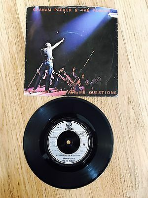 Graham Parker & The Rumour - Hey Lord Don't Ask Me Questions Record Rare